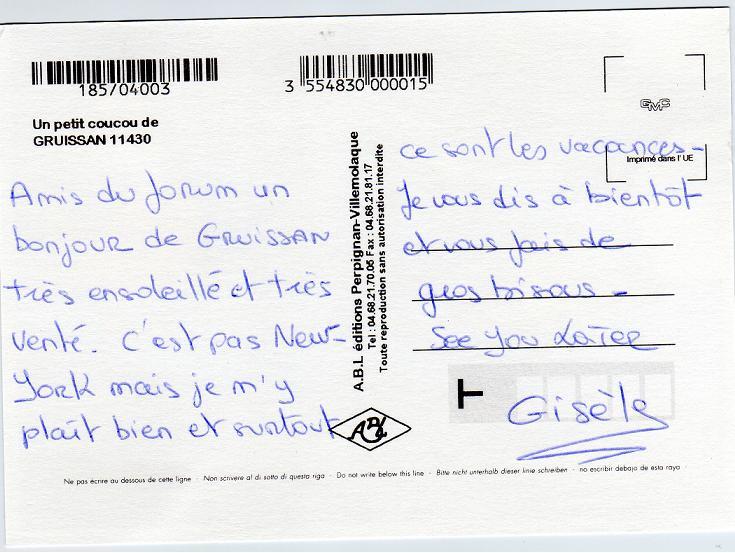 exemple de carte postale pour des amis Les cartes postales de nos forumeurs   Forum New York   ©New York